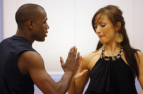 "DANCING WITH THE STARS - FLOYD MAYWEATHER -- ""Pretty Boy"" Floyd Mayweather is a six-time world champion in five different weight classes and the current RING and World Boxing Council Welterweight Champion of the World, with an astounding undefeated record of 38-0, with 24 knockouts.  He is universally recognized as pound-for-pound the best fighter in the world. Mayweather teams with KARINA SMIRNOFF, who returns for her third season. In a ""Dancing with the Stars"" first, twelve celebrities - six men and six women -- attempt to outshine one another on a fifth season of the hit series, which returns MONDAY, SEPTEMBER 24 (8:00-9:30 p.m., ET) on ABC. (ABC/ISAAC BREKKEN) FLOYD MAYWEATHER, KARINA SMIRNOFF"